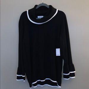 Calvin Klein size 1X heavy black knit sweater